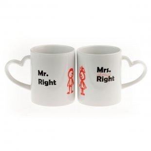 Tassen Set - Mr. & Mrs. Right