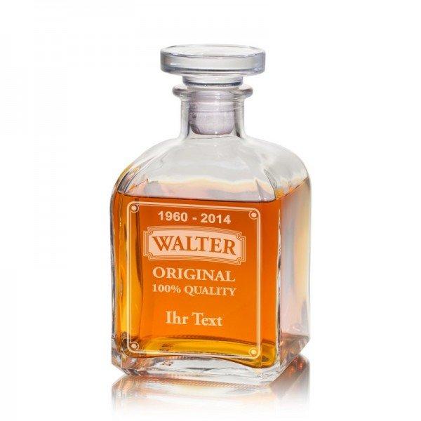 Whiskykaraffe mit Wunschtext (Karaffe)