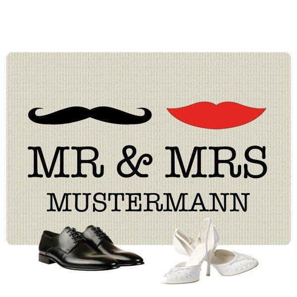 Fußmatte Mr & Mrs Hipster