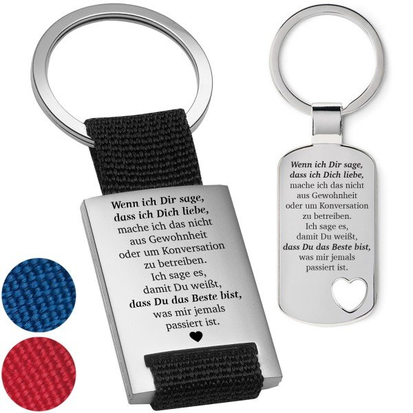 """Schlüsselanhänger """"Wenn ich dir sage"""""""