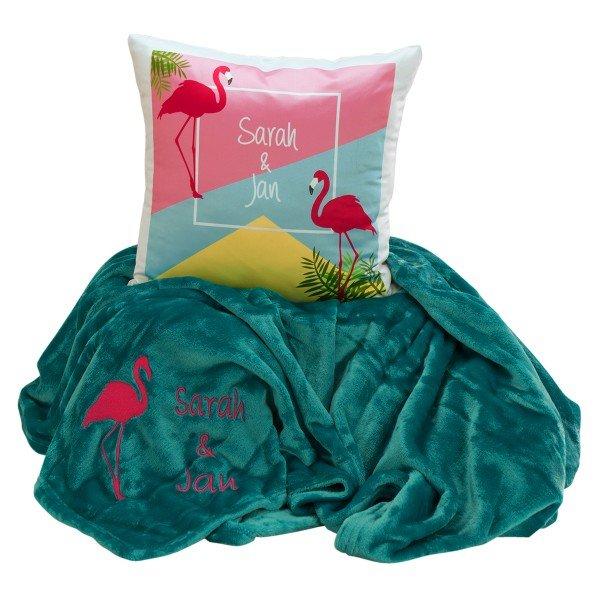 Kuschel-set-Flamingo