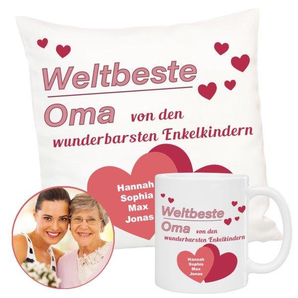 Geschenkset - Stolze Oma mit Personalisierung