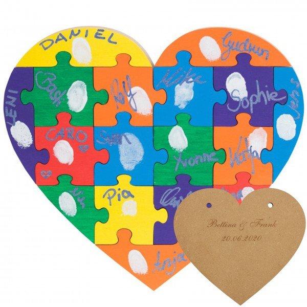 Holz Puzzle Herz - klein