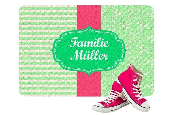 Fußmatte - Mustermix grün