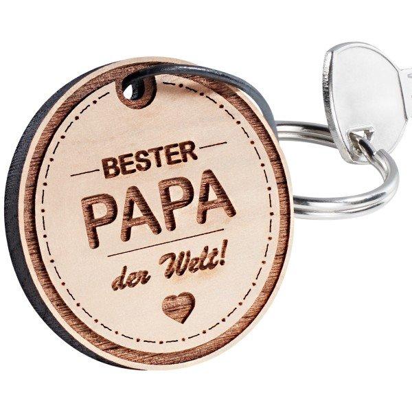Schlüsselanhänger - rund bester Papa